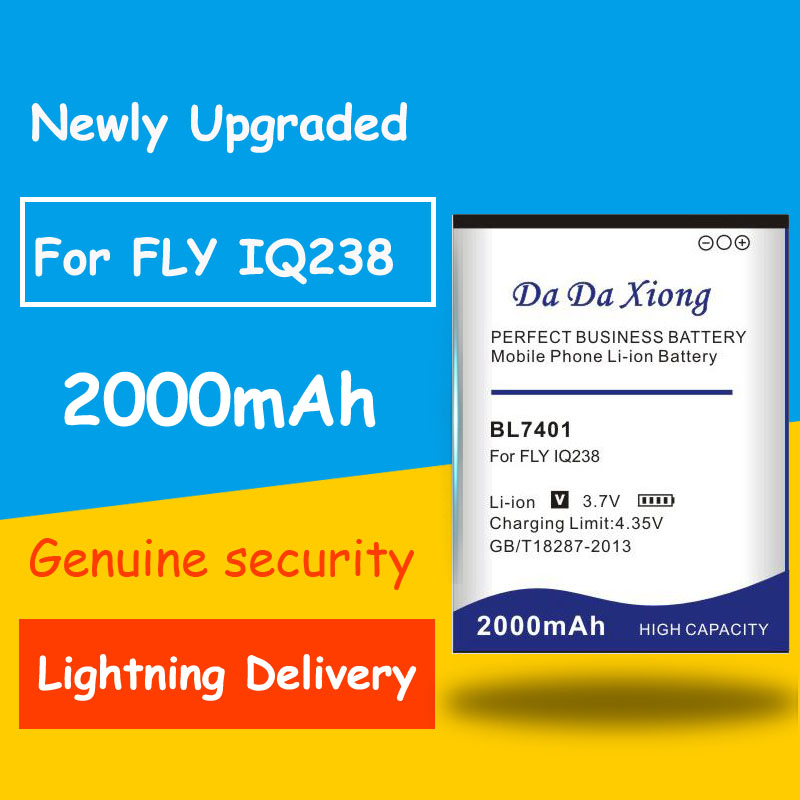 Newly Upgraded High Quality <font><b>BL7401</b></font> 2000mAh Battery high quality for <font><b>FLY</b></font> BL-7401 IQ238 iq238 mobile phone image