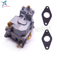 Outboard Motor 66M 14301 12 Carburetor Assy 66M 13646 00 Gaskets (2 pcs) for Yamaha 4 stroke F15 Electric Start 15hp Boat Engine