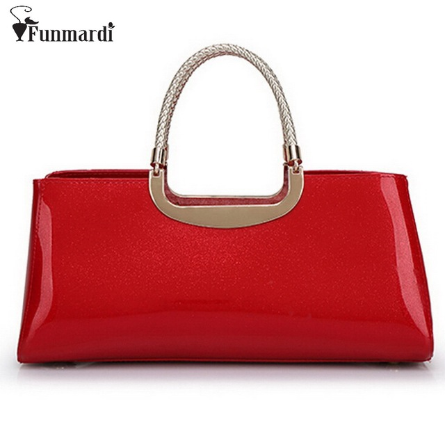 7f689989c1 2016 New Fashion patent leather bag shinning light color design PU leather women  handbags famous trendy leather bags WLHB1085