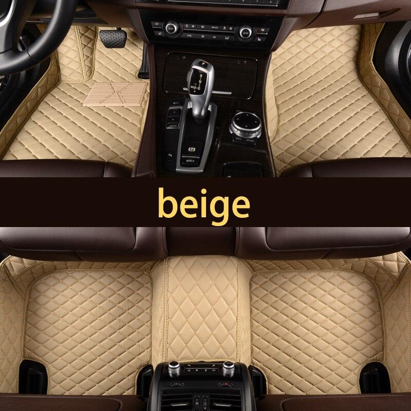 Fiber en cuir étanche portable tapis de sol voiture pour audi a6 c5 1997 1998 1999 2000 2001 2002 2003 2004