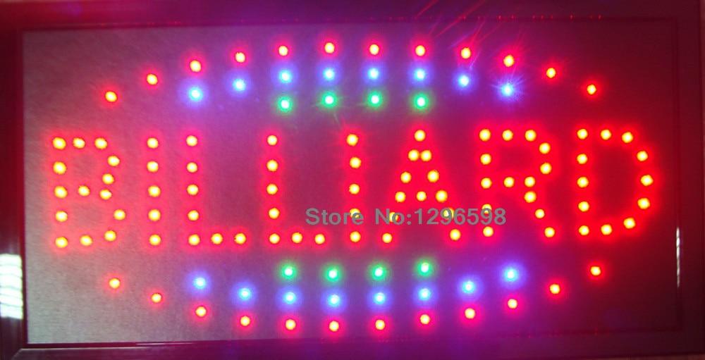 2017 LED BILLIARD neon sign hot sale custom led sign 10x19 Inch Semi-outdoor Ultra Bright running BILLIARD display