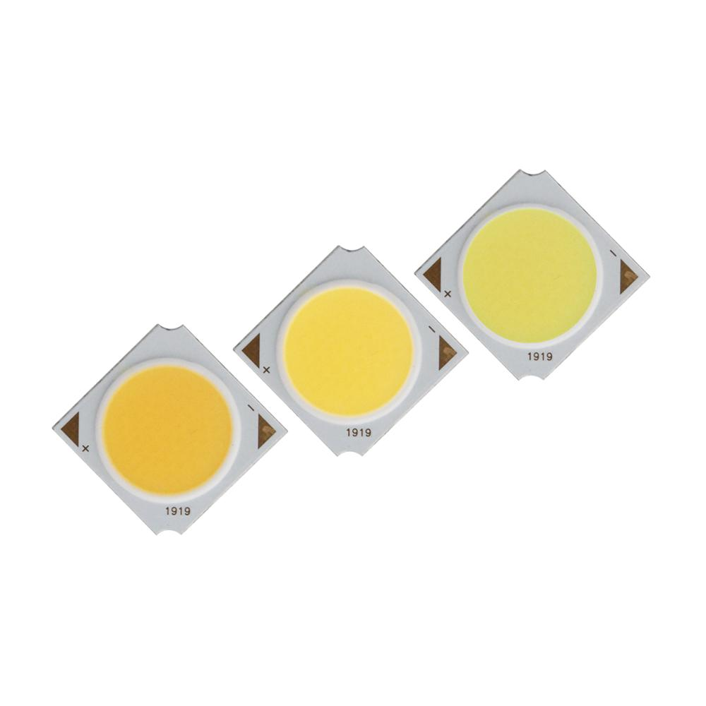 Купить с кэшбэком Manufacturer 19x19mm Square Aluminum Board LED COB Strip Epistar chip Light Source Module 10W 15W 20W 30W COB for bulb lamp