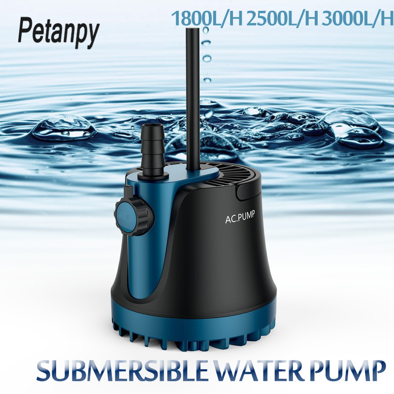 25/35/60W New Home Submersible Water Pump Submersible Waterfall Silent Fountain Pump For Aquarium Fish Tank Garden Fountain 220V