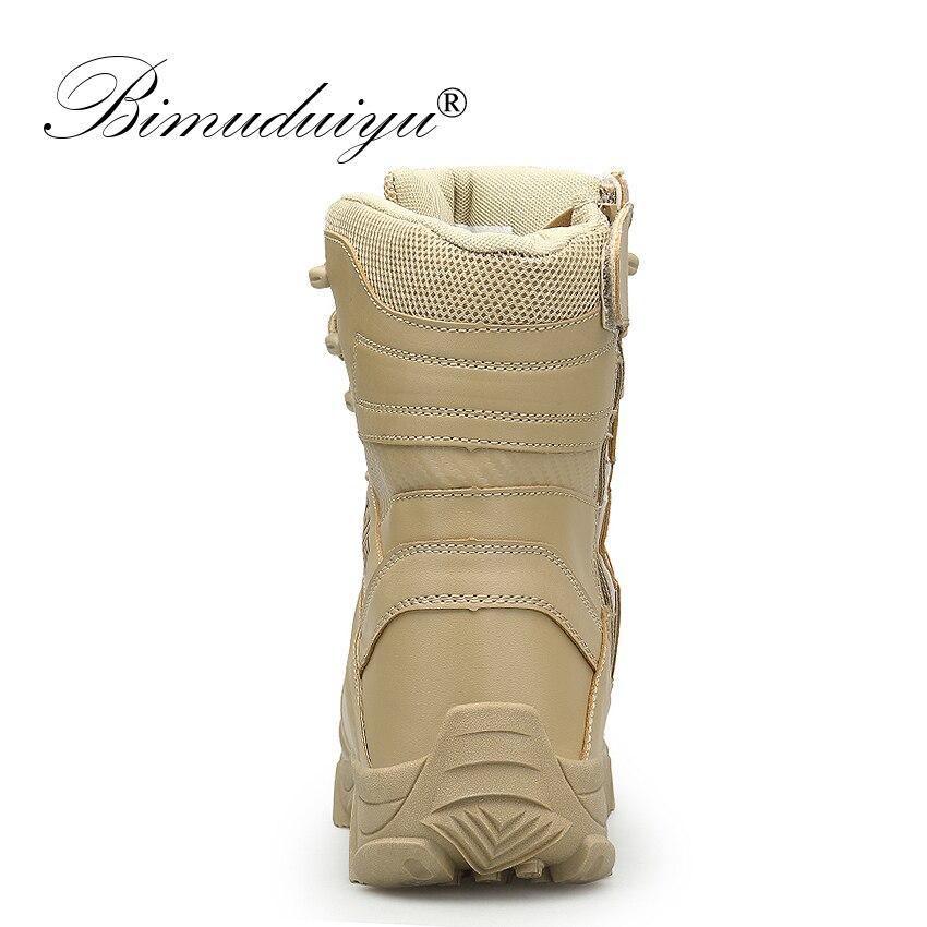 Travail black En Sand Tactique Force Combat Militaire Bimuduiyu De Cuir Armée Spéciale Désert Bateaux Hiver Bottes Neige Automne Cheville Hommes Chaussures wCnRZOBq