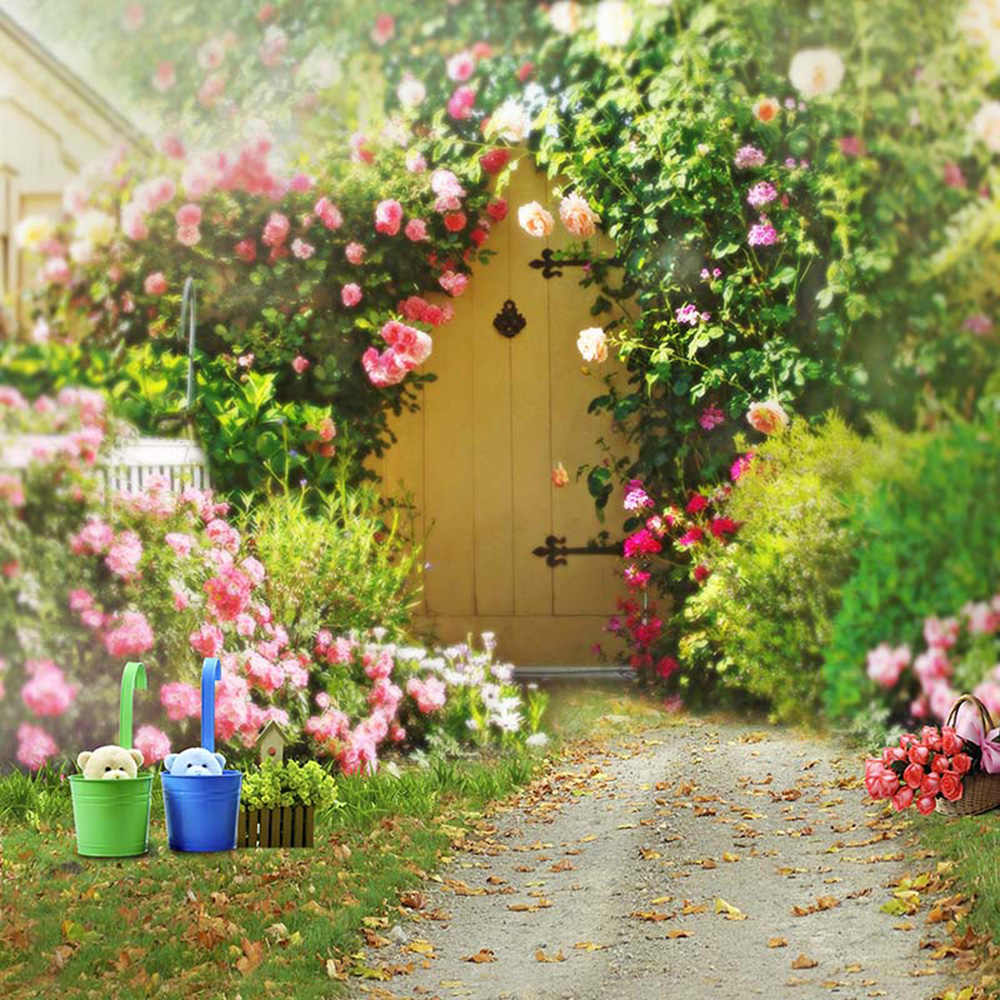 Spring Flowers Garden Backgrounds for Wedding Photography