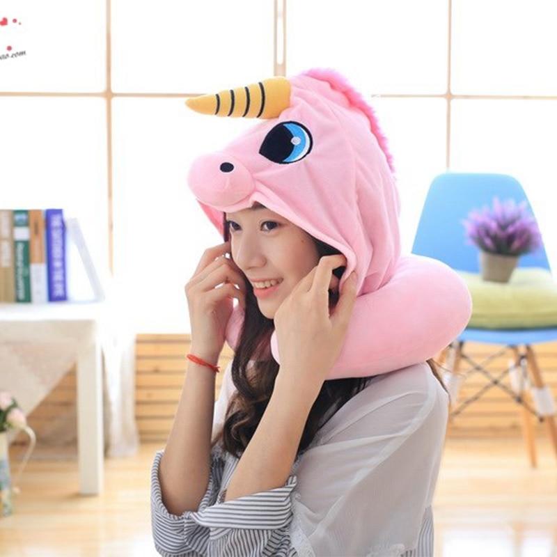 Hooded Unicorn Travel Pillow 4