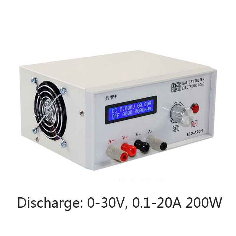 Electronic Load Battery Capacity Tester Power Supply Tester Battery Discharge Tester 30V 20A 200W Oneline Software