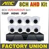 2015 New 8 Channel Full AHD DVR 720P HD Dome IR CUT CCTV 8ch Channel DVR