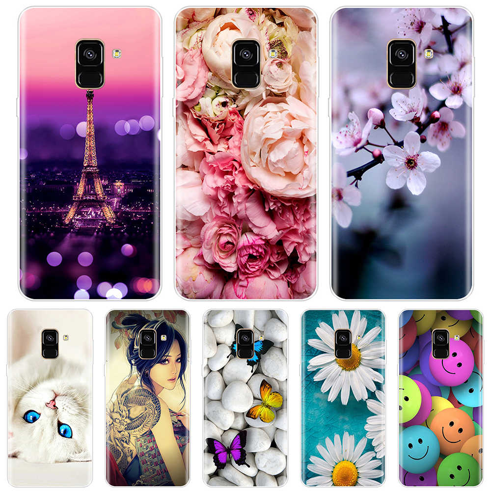 Phone Case For Samsung Galaxy A3 A5 A6S A7 A9 2016 2017 Soft Silicone TPU Pattern Painted For Samsung A8 Plus 2018 Case Cover