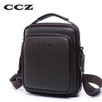 CCZ New Arrival Mens Shoulder Bags PU Leather Handbags For Men Solid Pattern Brand Bags Small