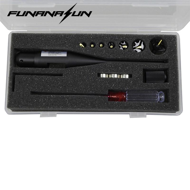 Red Dot Laser Bore Sighter BoreSighter Kit for 0.177 to 0.78 Caliber Scope Aluminum Alloy Laser Pointer Calibrator Aiming