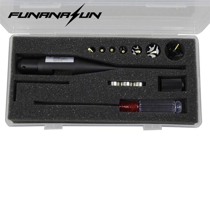 Red Dot Laser Foro Sighter BoreSighter Kit per 0.177-0.78 Calibro di Portata In Lega di Alluminio Puntatore Laser Calibratore Con L'obiettivo di