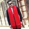 2016 Otoño invierno primavera hombres bufanda de marca bufandas de invierno keep warm sólido borla guapo caliente SC003