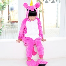 Детские пижамы костюм единорога детские пижамы одна деталь мультфильм пижамы  унисекс теплые зимние милые Pijamas Unicornio 6730ba71b43a3