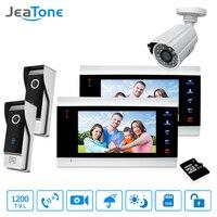 7 Video Door Phone Doorbell Intercom Motion Detection Access Control 2 To 2 Intercom System 1200TVL