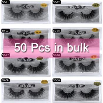 Mangodot Wholesale 50 Pairs SD series Mink Lashes Luxury Cilios in bulk Natural Mink False Eyelashes Thick Extension Eyelash