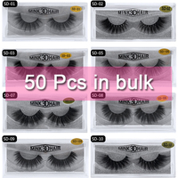 Mangodot Wholesale 50 Pairs SD series Mink Lashes Luxury Cilios in bulk Natural Mink False Eyelashes Thick Extension Eyelash