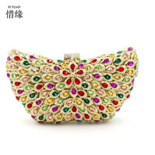 XIYUAN BRAND Fashion Women Evening Bags Rhinestones Crystals  Day Clutches Female Wedding Bridesmaid Party Banquet Charm handbag