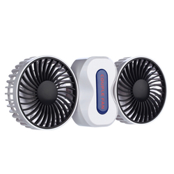 Portable Couples Fan Rechargeable Battery Air Conditioning 2 Motors Ventilador Fans Mini USB Desk Fan Electric Fan with 5 blades