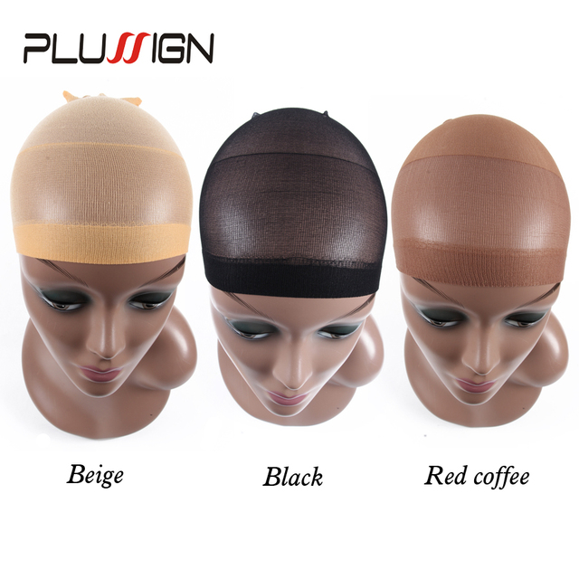 Clearance Quality Deluxe Wig Cap Hair Net For Weave 2 Pieces/Pack Hair Wig Nets Stretch Mesh Wig Cap For Making Wigs Free Size by Plussign