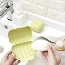 1 pcs 플라스틱 휴대용 비누 홀더 트레이 여행 상자 접시 홈 욕실 샤워 여행 컨테이너 디스펜서 비누 랙 비누 접시