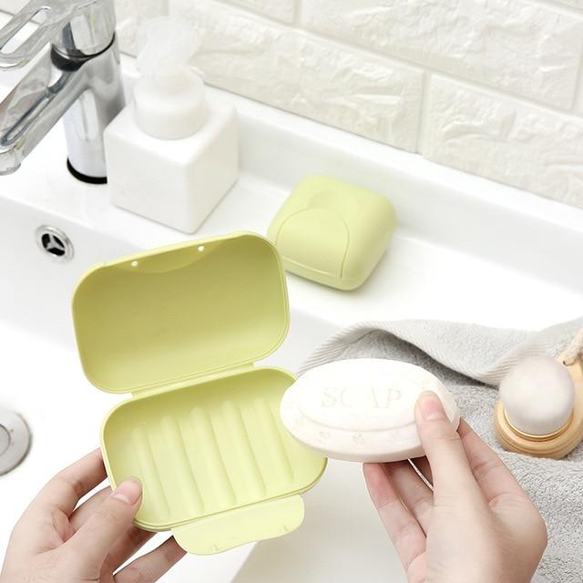 1PCS Plastic Portable Soap Holder Tray Travel Box Plate Home Bathroom Shower Travel Container Dispenser Soap Racks Soap Dishes