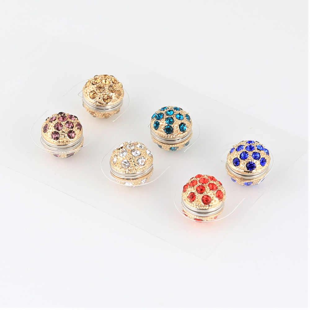 6aa6857711 ... 12pcs lot Fashion Solid Brooch Pin Muslim for Scarf Elegant Trendy  Style for Women Rhinestone ...