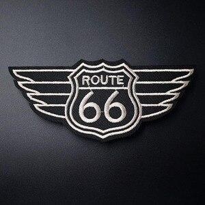 ROUTE 66 (Размер: 5,3x11,7 см) Сделай Сам, ткань, железо, нашивка, вышитая аппликация, швейная одежда, наклейки, аксессуары для одежды