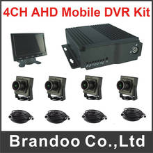 1080P and 1080N HD 4CH DVR Mobile DVR Kit For Car Surveillance Including 4pcs Car Camera