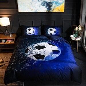 Image 4 - Набор постельного белья 3D с футбольным принтом, бейсбол, футбол, баскетбол, пододеяльник, домашний декор для спальни, льняное постельное белье