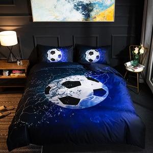 Image 4 - Parure de lit avec impression en 3D, housse de couette, de Football, de Baseball, de basket ball, décoration de chambre à coucher