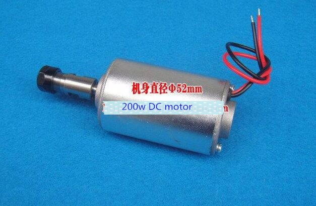 цена на DC 200W Spindle motor/ 0.2KW air-cooling spindle motor/200W air-cooled spindle motor/ER11 spindle motor