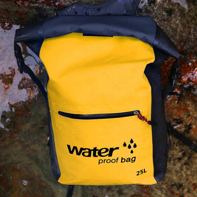 9a84ecc400 25L Waterproof Dry Bag Backpack Rucksack Storage Pack Sack Swimming Rafting  Kayaking River Trekking Floating Sailing