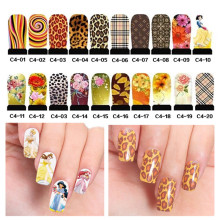 5pcs Princess Leopard Designs Water Transfer Nail Art Stickers Watermark Decals DIY Nail Decoration Tools ( C4 series)