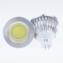 Купить с кэшбэком 10 Pieces Led Bulb Light MR16 5W COB DC 12V Spotlight Cool White Nature white Warm white 3000K 4000K 6500K Daylight Super Bright