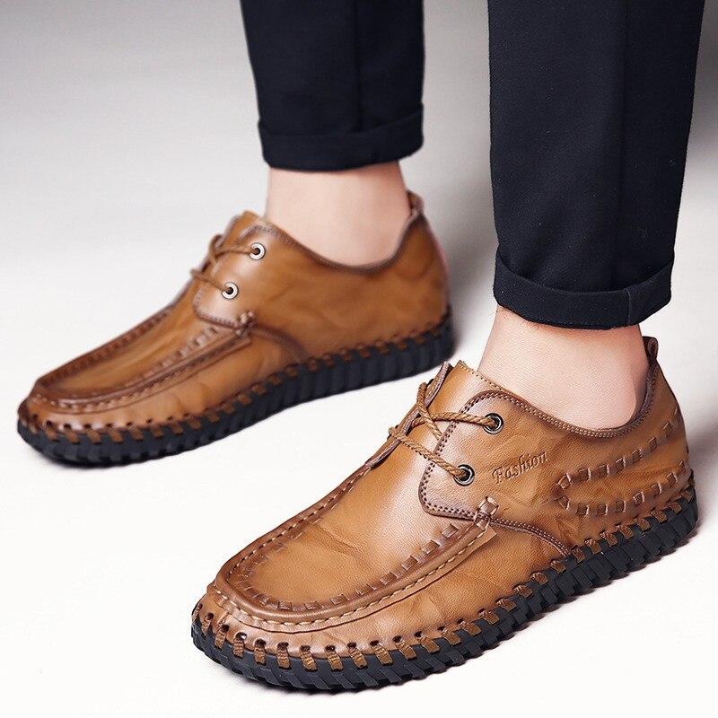 Porter Chaussures Formelle Appartements Noir jaune Dentelle En B2858 D'affaires Hommes Respirant up Casual Confort Cuir CQrdxeoWBE