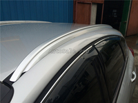 For Ford Focus 2015 2016 2017 2018 Aluminium alloy Silver Top Roof Rails Rack Side Bars Decoration Trim car styling