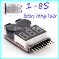 Hot! 3pcs for 1-8S Lipo/Li-ion/Fe Battery Voltage 2IN1 Tester Low Voltage Buzzer Alarm NO 1 New Sale