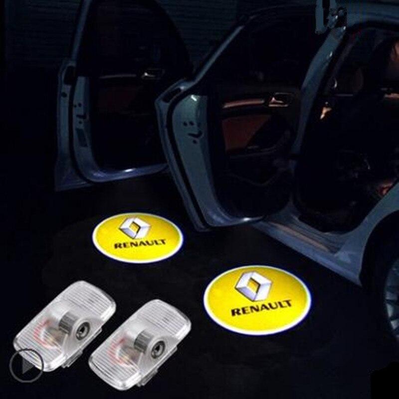 For Renault Koleos 2008 2009 2010 2011 2012 2013 2014 2015 2016 Car 3D Door LED Logo Light Shadow Projector Welcome Lamp