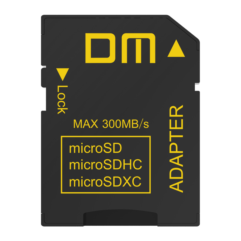 DM SD memory card Adapter SD4.0 UHS-II comptabile with microSD microSDHC microSDXC transfer speed can up to 300MB/s