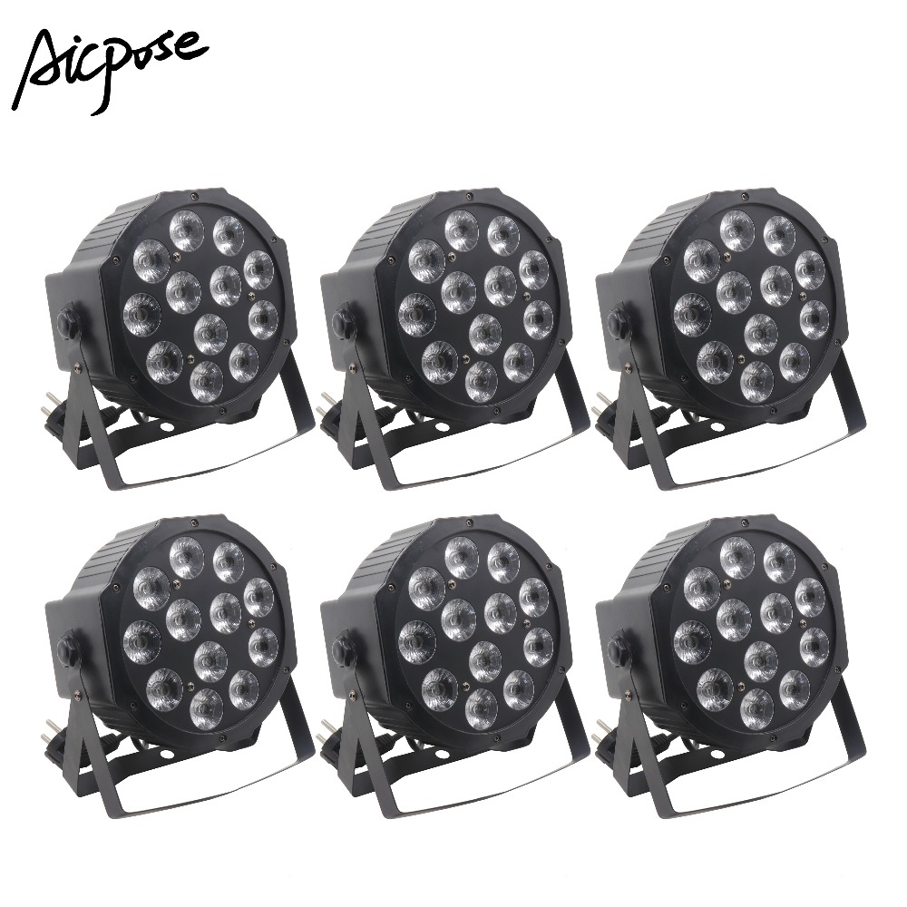 6Pcs/lots 12x12W RGBW 4 in 1 Led Par lights With dmx512 Stage Lighting Wedding DJ Party Effect Light6Pcs/lots 12x12W RGBW 4 in 1 Led Par lights With dmx512 Stage Lighting Wedding DJ Party Effect Light