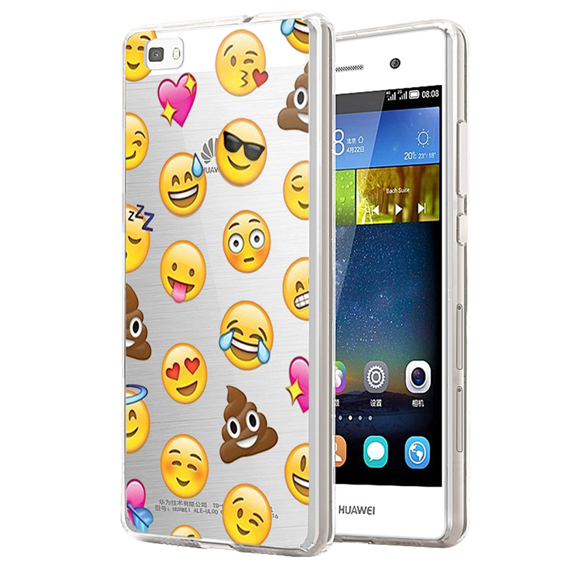 Coque Huawei P8 Lite P9 Case Silicon Cartoon Flower Painting Soft TPU Transparent Luxury Back Cover Ultra Slim  -  ShenZhen Green Sky Technology Ltd store