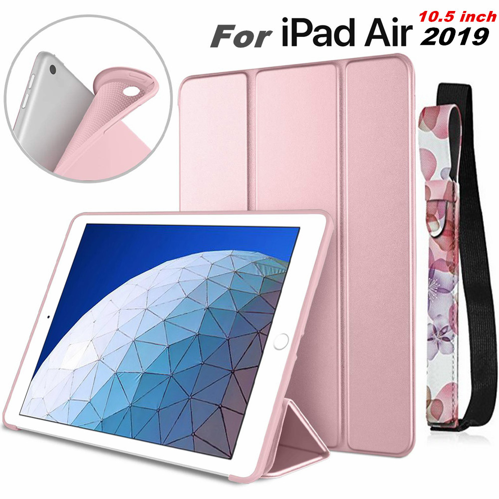 Para iPad Air 3rd Generation 10,5 funda inteligente Trifold soporte suave para iPad Air 3 10,5 pulgadas 10,2 7th 2019 Auto Sleep/Wake