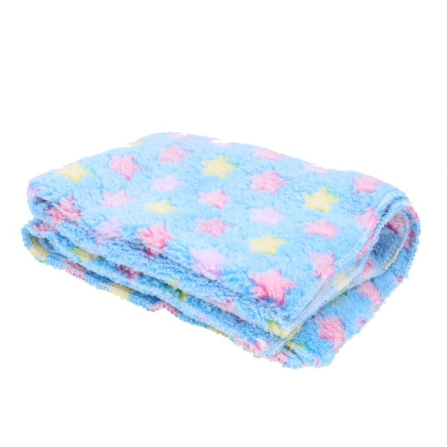 Warm Pet Mat Stars Print Cat Dog Puppy Fleece warm skin-friendly Soft Blanket Bed Cushion 3 Size Pink Blue Brown gatos Mats