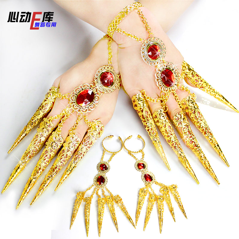 free shipping 3pcs/lot fashion kyries india Belly dancing jewelry accessories gold bracelets+finger set