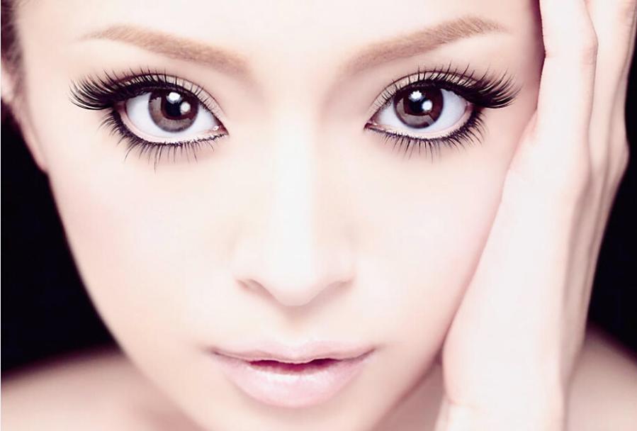 10 Pair Short Thick Big Eyes False Eyelashes Eyelash Curler Color