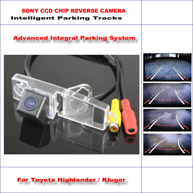 Intelligentized Reversing Camera For Toyota Highlander Kluger Rear View Back Up 580 TV Lines Dynamic Guidance
