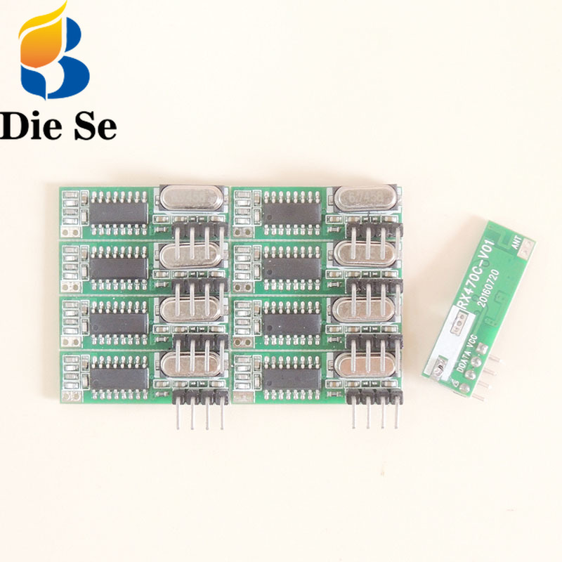 433 Mhz RF Wireless Receiver Module Switch Superheterodyne 433MHZ Wireless For Arduino DIY Relay Receiver Updated Module