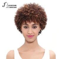 Joedir Hair Brazilian Virgin Hair Afro Kinky Curly Weave Bundle Short Full Lace Frontal Human Hair Wigs For American Black Women