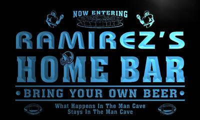 x1070-tm Ramirezs Home Bar Beer Custom Personalized Name Neon Sign Wholesale Dropshipping On/Off Switch 7 Colors DHL